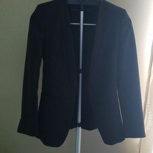 Zara Black open front blazer